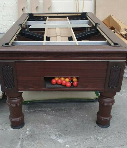 Secondhand Supreme Prince Mahogany Black Pool Table Available Now