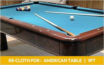 American 8ft pool table recloth