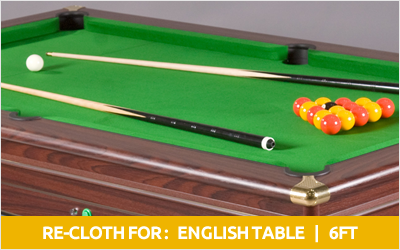English 6ft pool table recloth