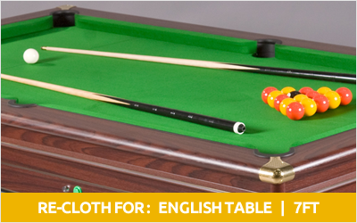 English 7ft pool table recloth