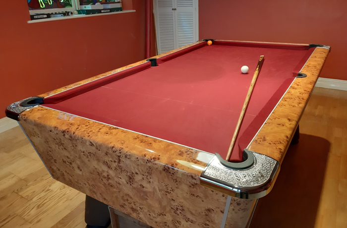 7ft Supreme Prince Reconditioned Amberwood Pool Table Available Now