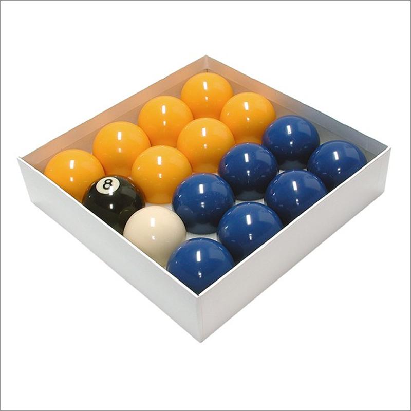 Blue & Yellow Pool Table Balls
