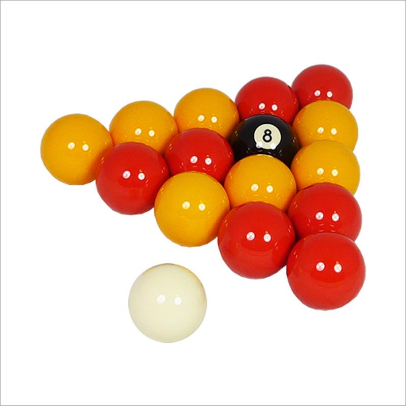 Red & Yellow Pool Table Balls