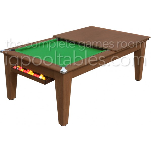 Gatley Classic  Pool Dining Table Dark Walnut