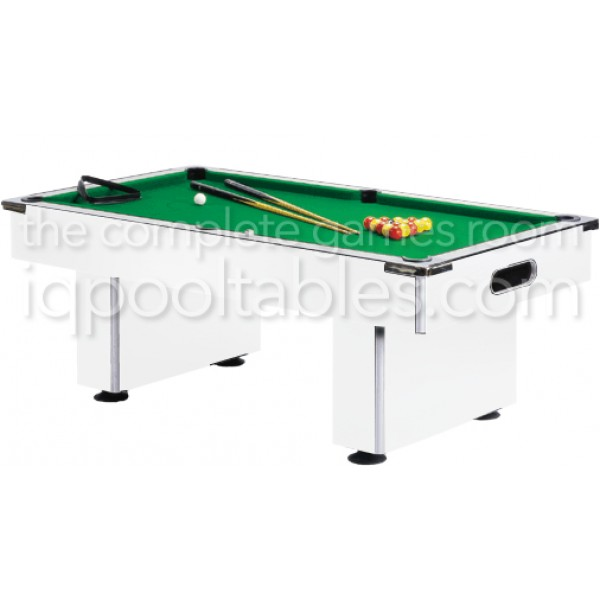 Gatley Slimline Pool Table White