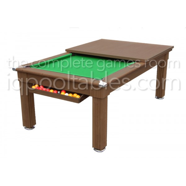 Gatley Traditional  Pool Dining Table Walnut