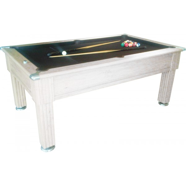 Gatley Traditional Pool Table White