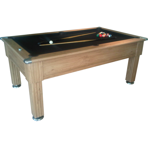 Traditional pool table oak with free uk delivery iq for Oak beauty pool table