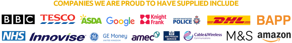 Companies we are proud to have supplied