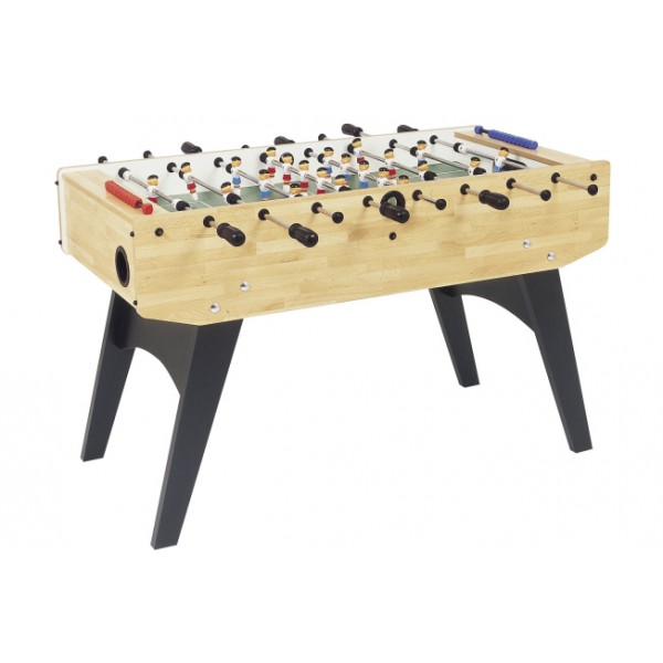 Garlando F-20 Family Football Table with Solid Rods - Beech