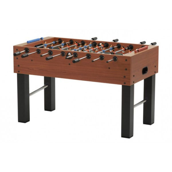 Garlando F-5 Family Football Table with Solid Rods - Cherry