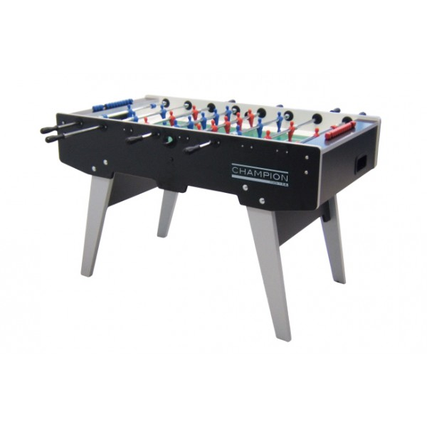 Garlando Champion Football Table with Telescopic Rods - Black