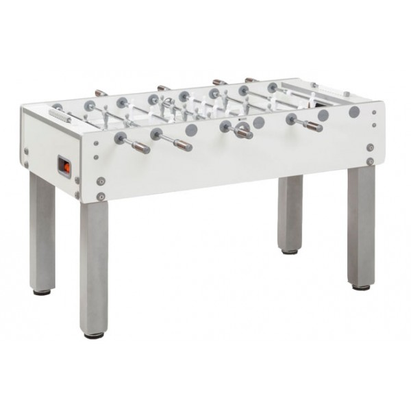 Garlando G-500 Football Table with Telescopic Rods - Pure White