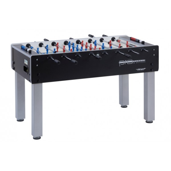 Garlando Pro Champion ITSF Football Table with Solid Rods & Sanded Glass Playing Field - Black
