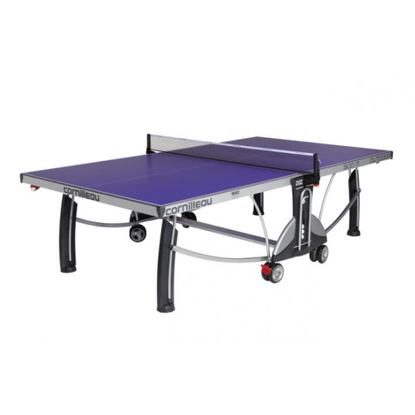 Cornilleau Performance 500 Outdoor Rollaway Table Tennis Table in Blue
