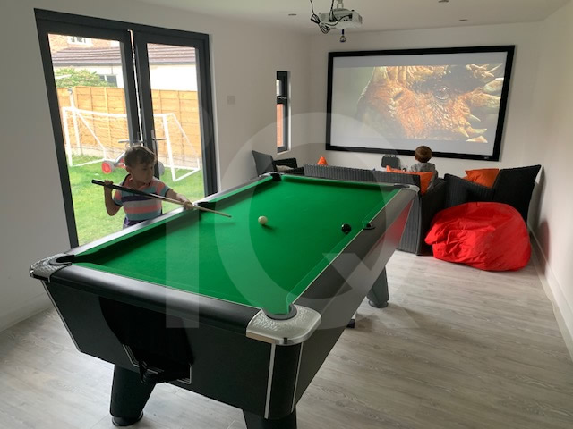 Supreme winner 7ft pearl black coin operated pool table  with green cloth