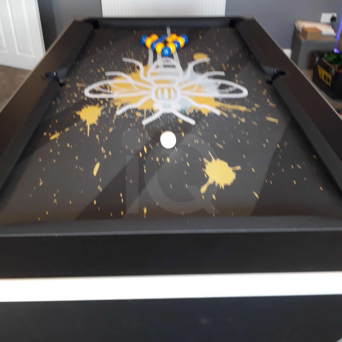 Installation of a Bee Custom Design Pool Table Cloth After Image 8
