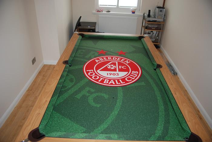 Aberdeen Fc Custom Design Pool Table Cloth Iq