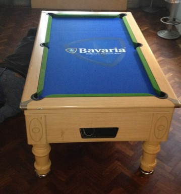 Bavaria Branded Pool Table Cloth Produced by IQ for a Client in Ireland