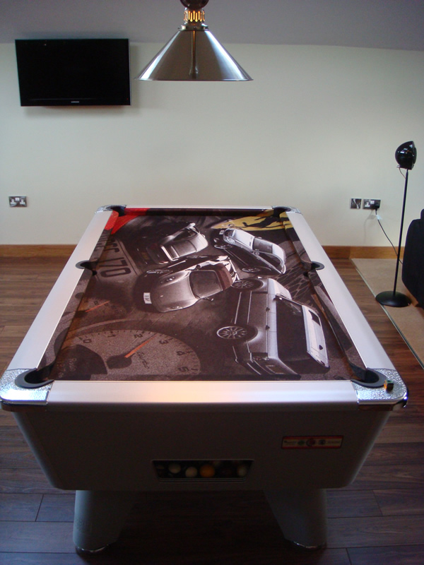 Custom Car Design Pool Table Cloth