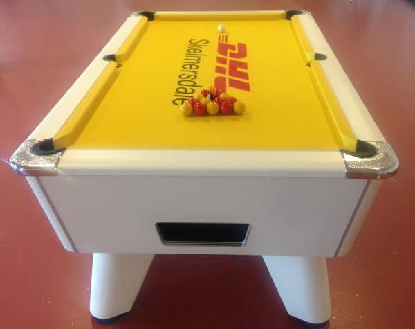 DHL Branded Pool Table Cloth Produced by IQ for a Client