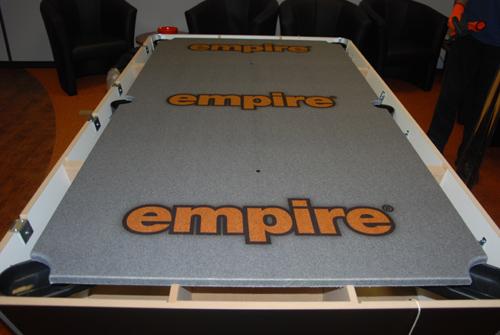 Empire Logo Custom Design Pool Table Cloth