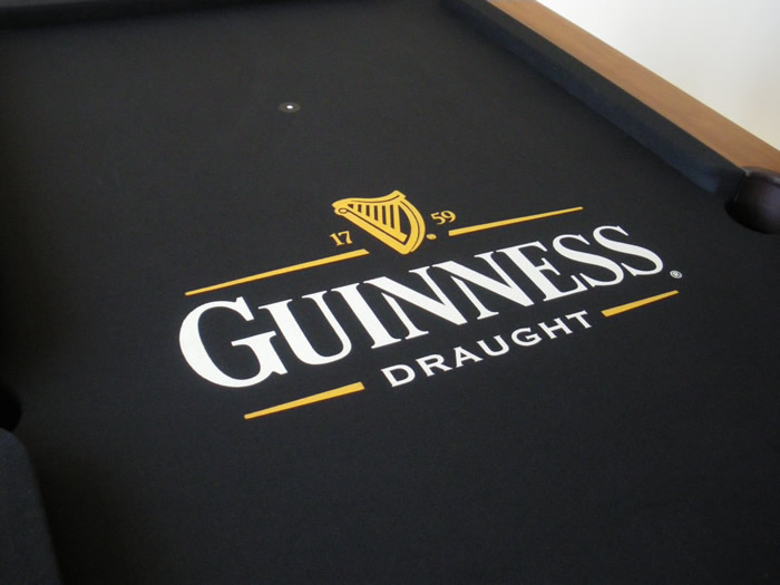 Guinness Custom Design Pool Table Cloth