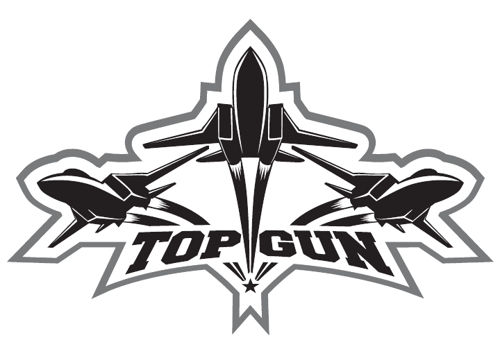 Custom Pool Table Cloth with Top Gun Logo - small