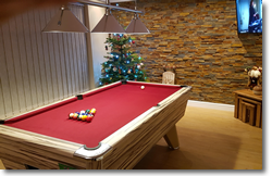 Supreme Winner Pool Table in Artwood Finish with Red Cloth