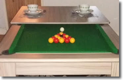 Pool Table with dining table top