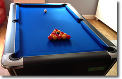 Horton Winner Pool Table With Blue Cloth