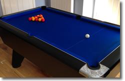 Horton Black Winner  Pool Table Installation