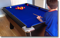 Black Winner  Pool Table Installation