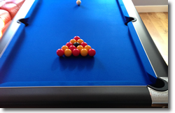 Horton Black Pool Table Installation