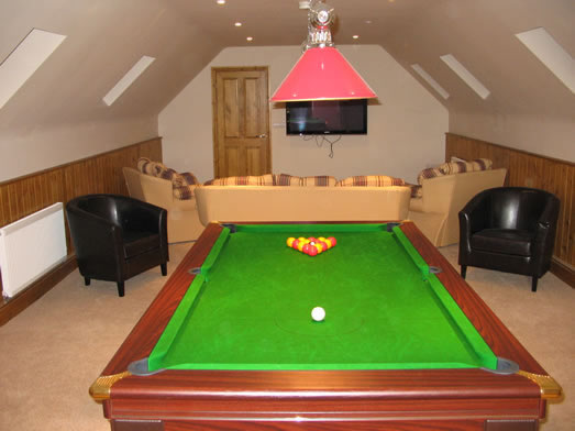 Supreme Prince Kit Pool Table Installed in 3rd Floor Room