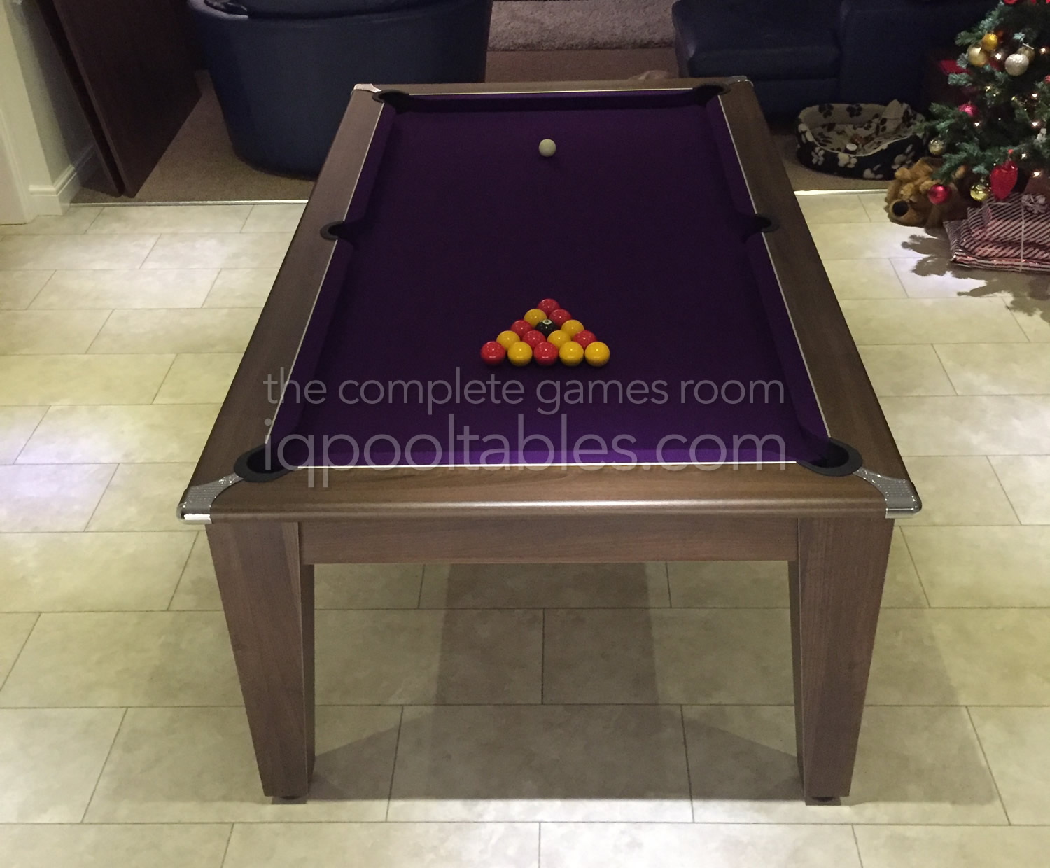 Gatley Classic Pool Dining Table in Dark Walnut Finish