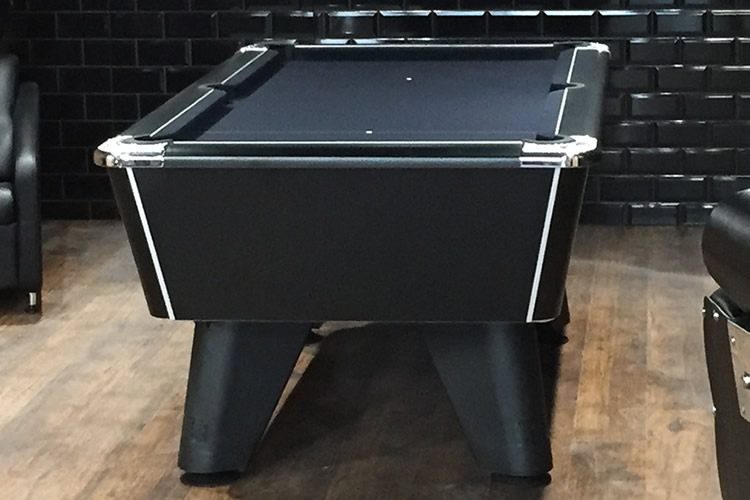 Installation of a Supreme Winner Pool Table in a Barber Shop