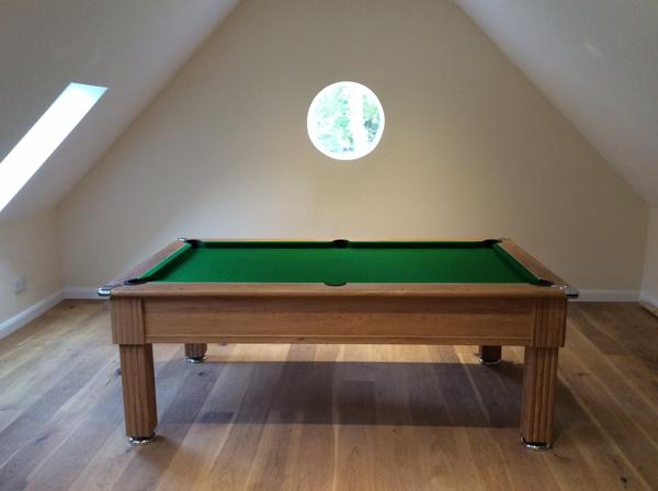 7ft Traditional Oak Pool Table