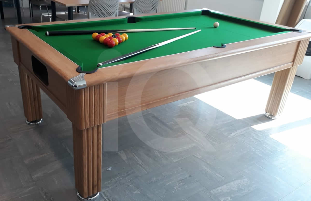 Gatley 7ft Pool Table Oak Finish / Green Cloth