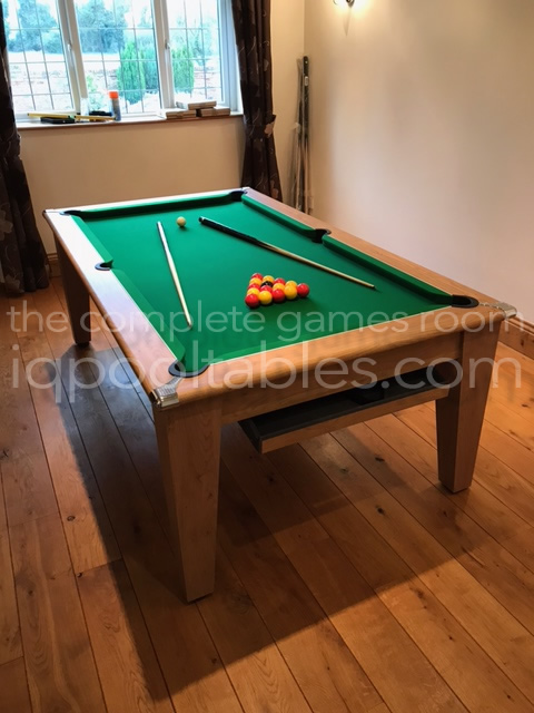Installation of a Gatley 7ft Pool Dining Table in Oak