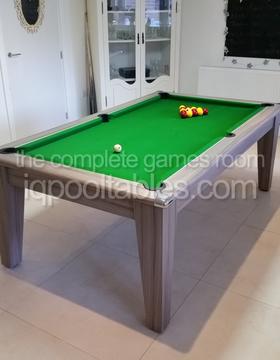 Gately 7ft Pool Dining Table in Driftwood