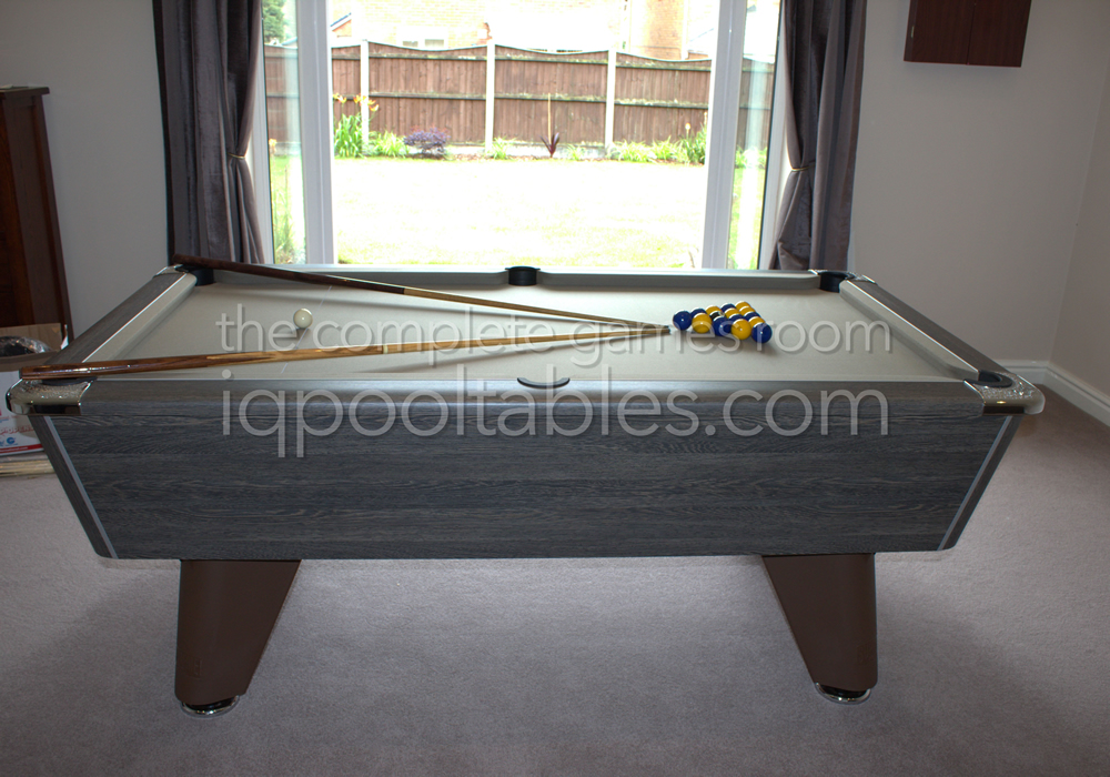 Supreme Winner Pool Table Rustic Finish / Taupe Cloth