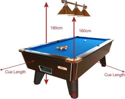 Supreme Pool Table Room Size Information - Buy my pool table
