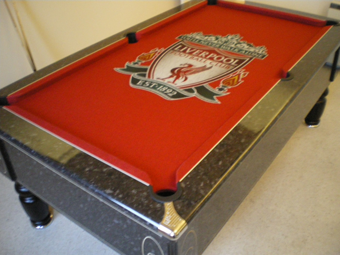 Liverpool FC Custom Design Pool Table Cloth - IQ