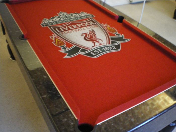 Liverpool Fc Custom Design Pool Table Cloth