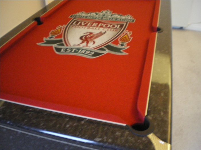 Liverpool FC Custom Design Pool Table Cloth