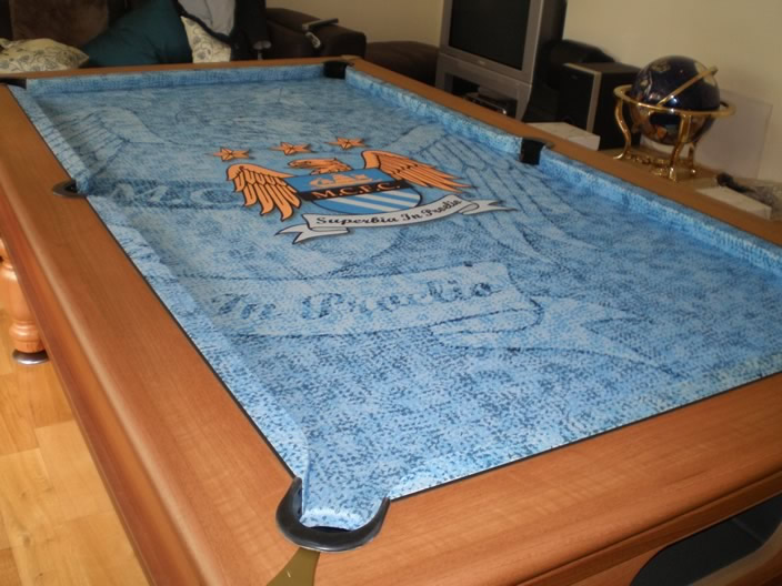 ... Manchester City Custom Design Pool Table Cloth