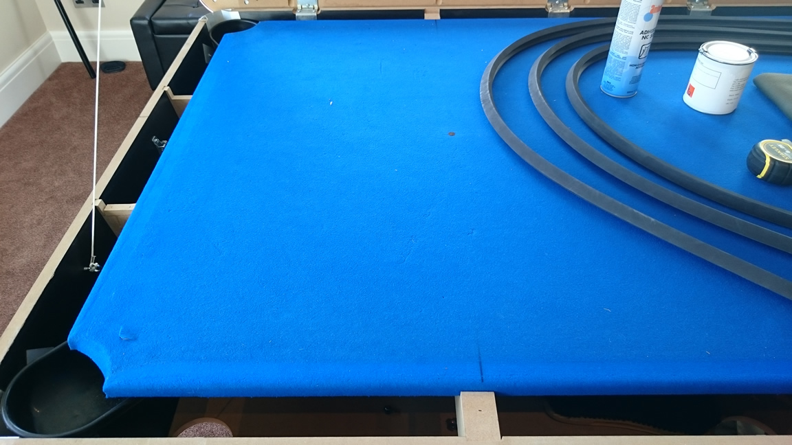 Pictorial History of a Pool Table Recover