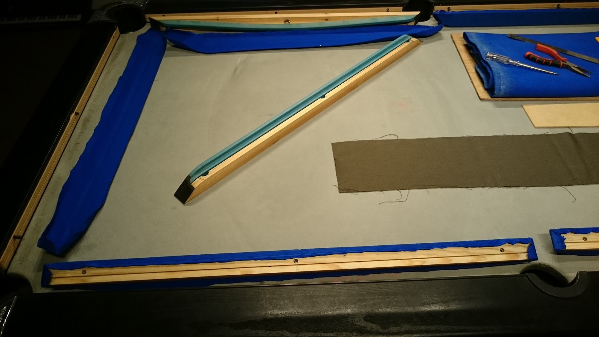 Pictorial History of a Pool Table Recover image 12