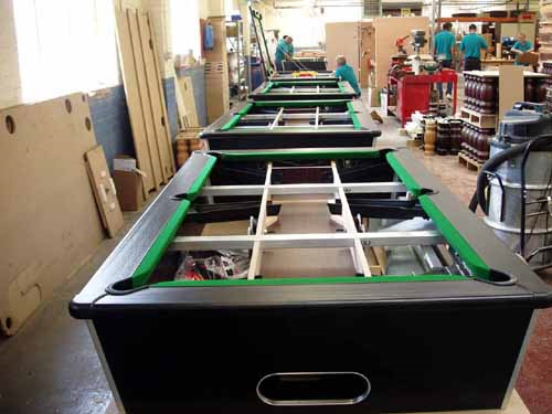 Pool table factory visit 9